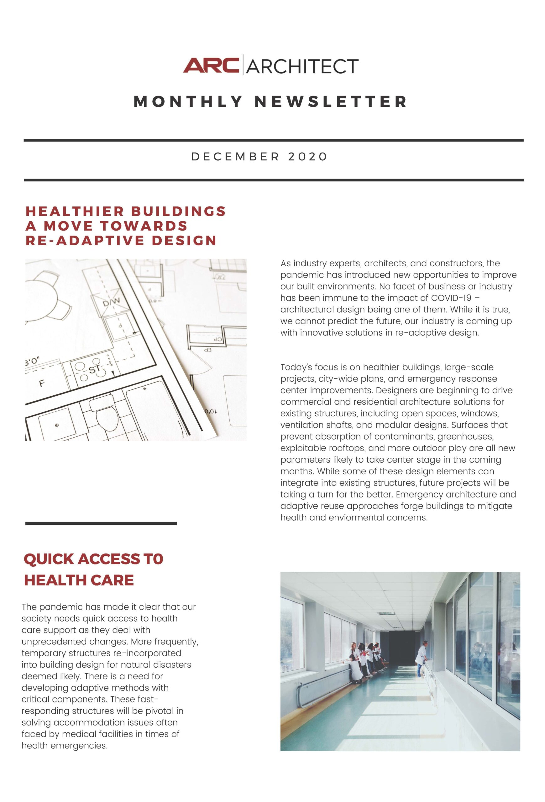 ARC-Newsletter-Dec-2020, Architectural Resource Corp, Arc architect, Illinois