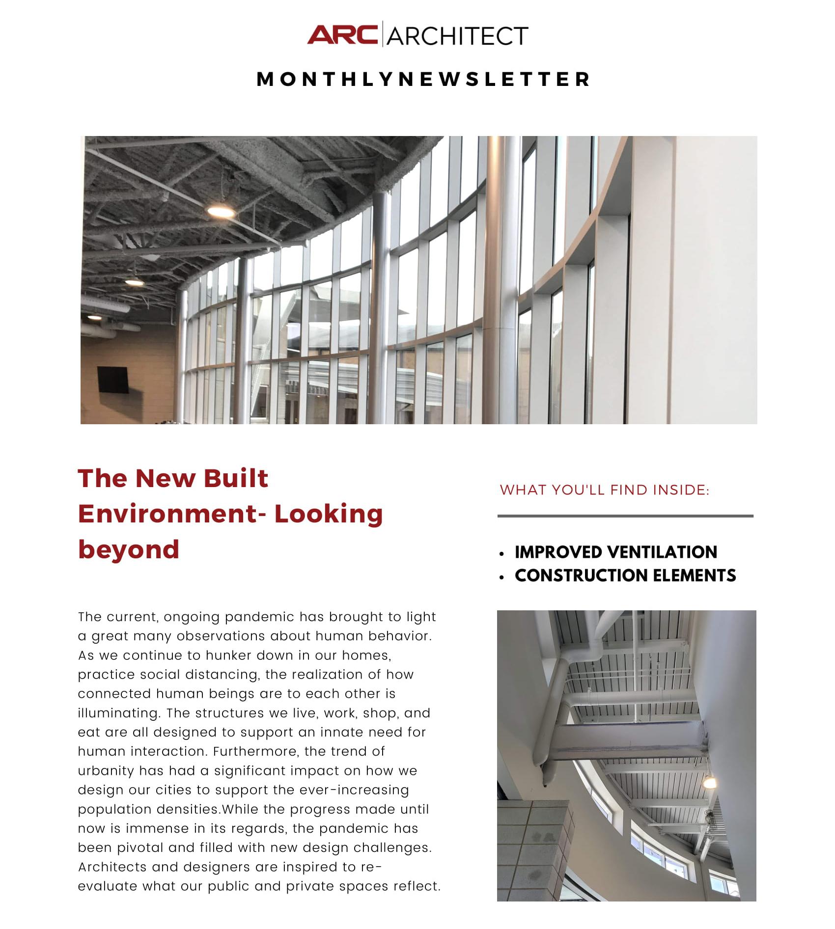 The new Built Environment - ARC Newsletter January 2021 - 1